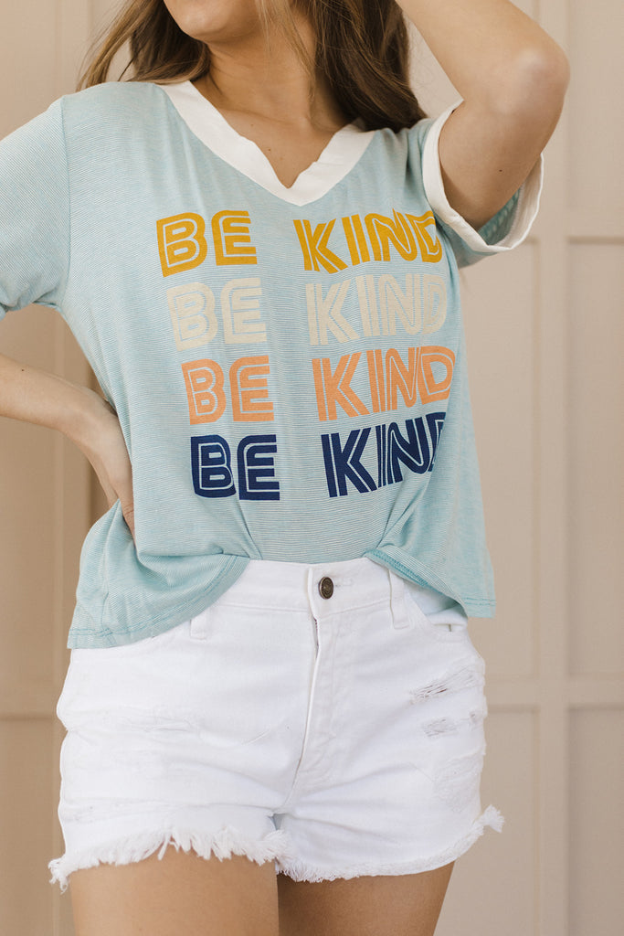 Be Kind Rainbow Tee