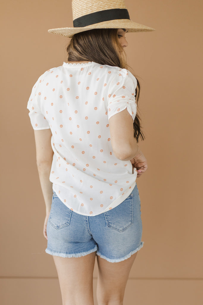 Cutest Polka Dot Blouse