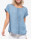Lace Chambray Top
