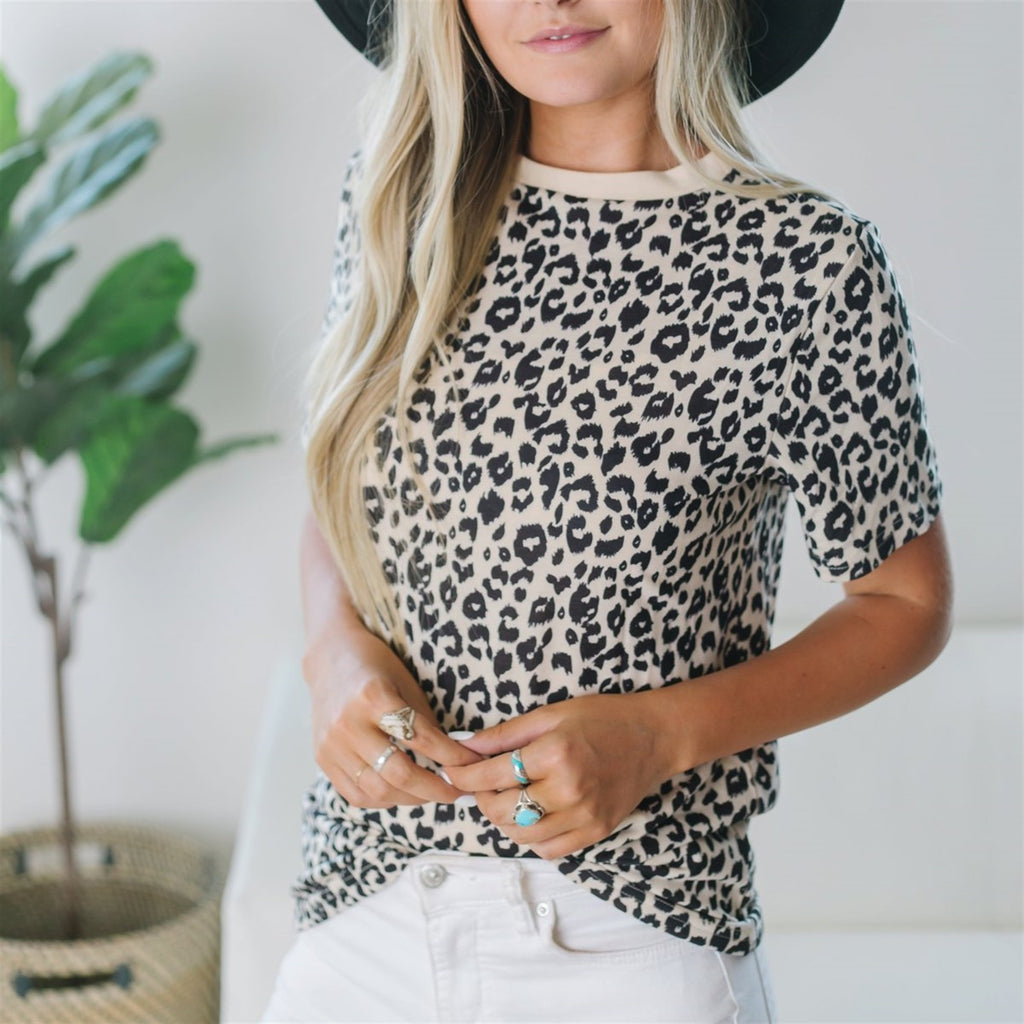 Animal Print Tee - Fancy Frills Boutique