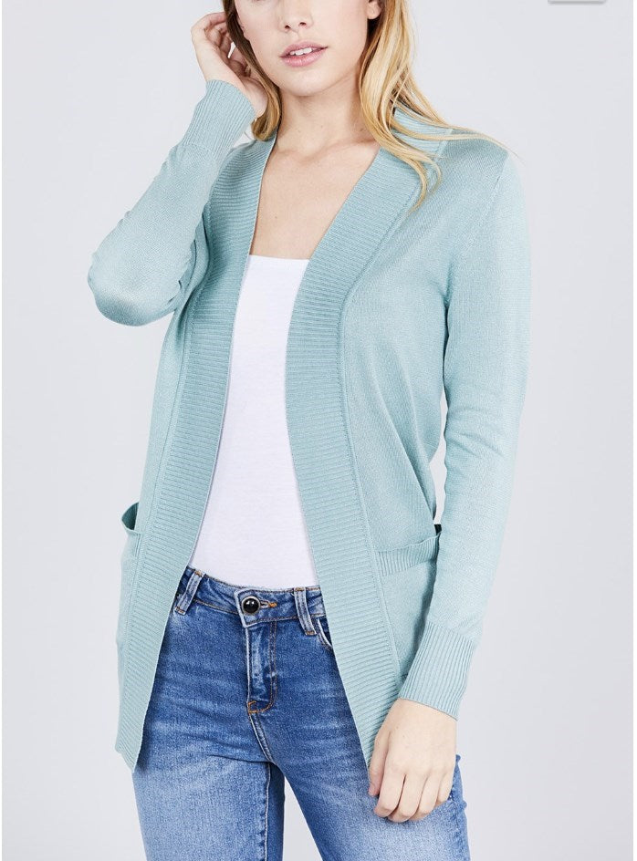 Layering Pocket Cardigan - Fancy Frills Boutique