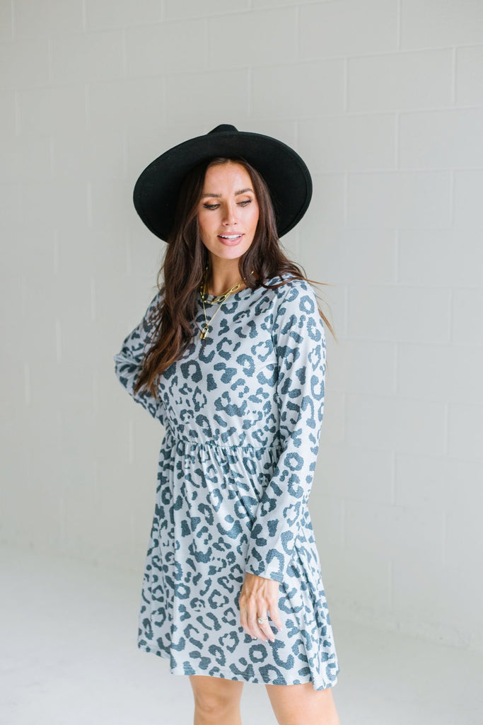 Fall Animal Print Dress
