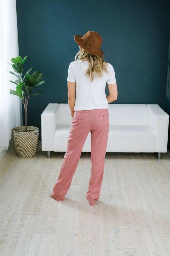Tie Waist Linen Pants - Fancy Frills Boutique