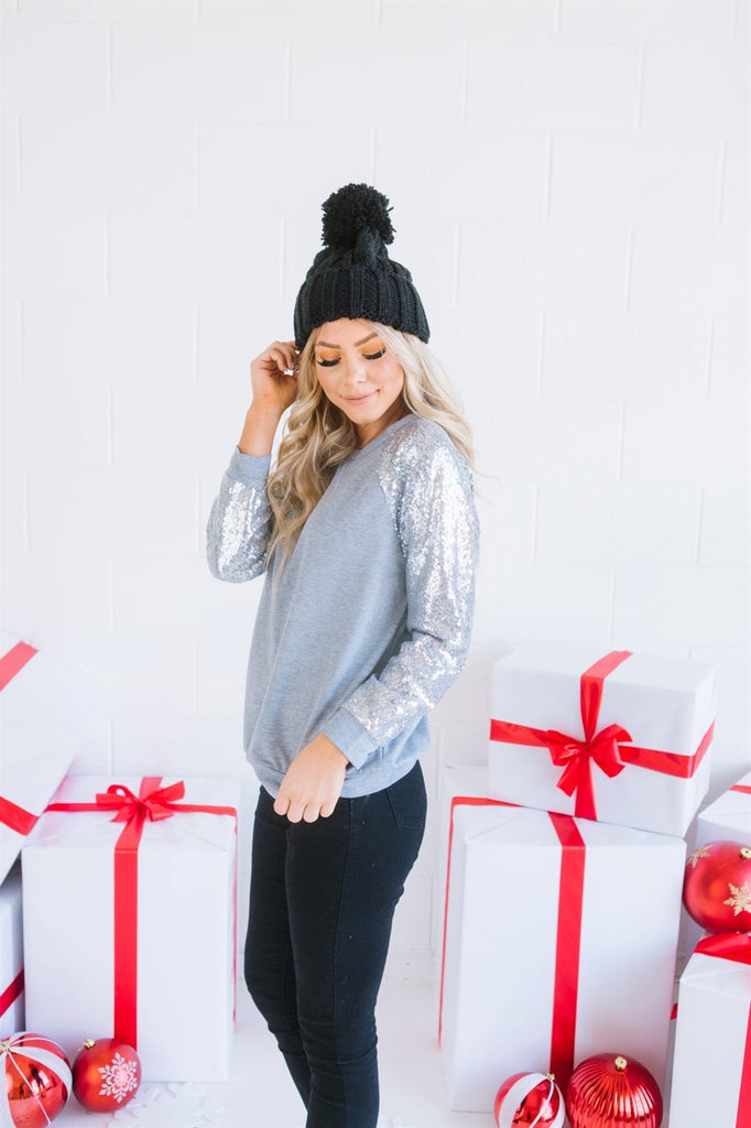 Sequin Holiday Sweater