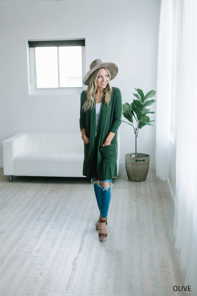 Boyfriend Pocket Cardigan