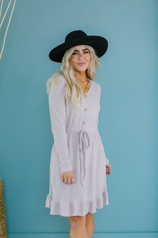 Denim Fringe Cardigan/Dress