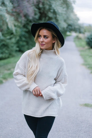 Soft Cowl Neck Sweater