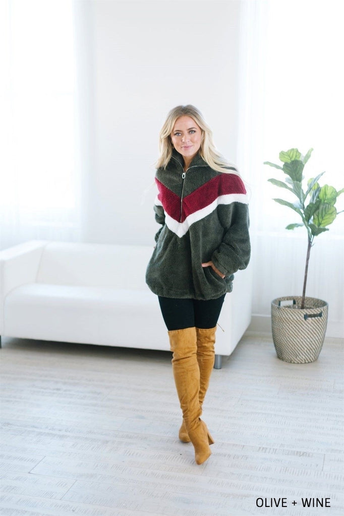 Chevron Sherpa Jacket