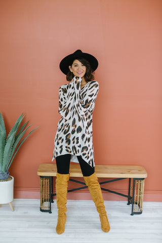 Leopard Hooded Pullover
