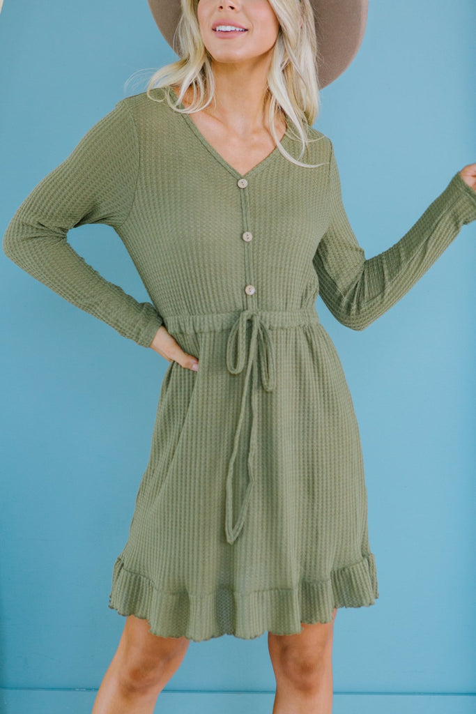 Fall Knit Button Dress