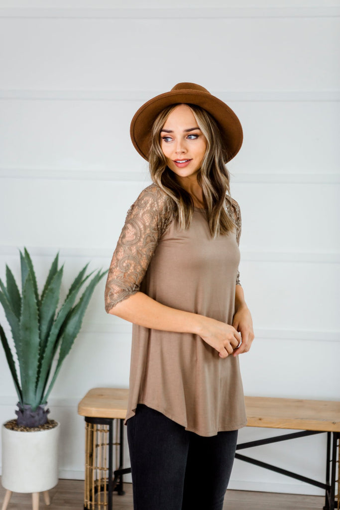 Lace Sleeve Tunic
