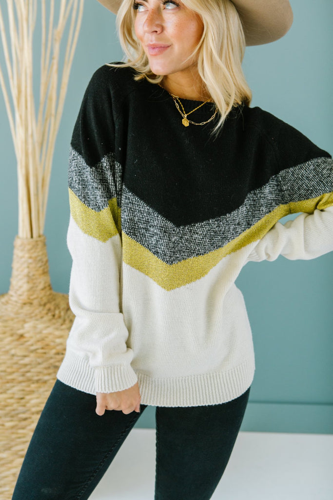 Chevron Striped Sweater