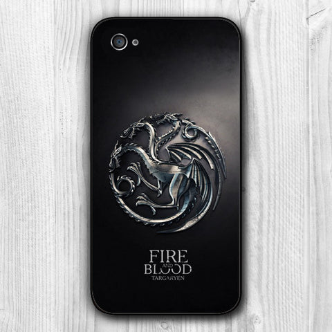 ACCESSOIRE - DRAGON COQUE pour  Apple iPhone 5 5S 4 4S 5C 6 6S plus House Targaryen Dragon