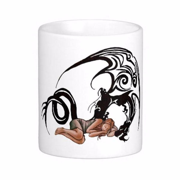 "MUG - DRAGON ""SLEEPING GIRL"" CERAMIQUE BLANCHE"