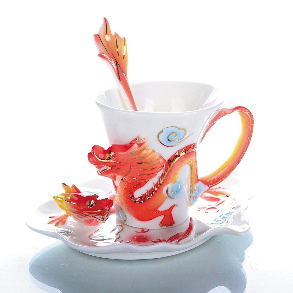 MUG - DRAGON TASSE THE CAFE CERAMIQUE SET 3 PIECES 2 VARIETES