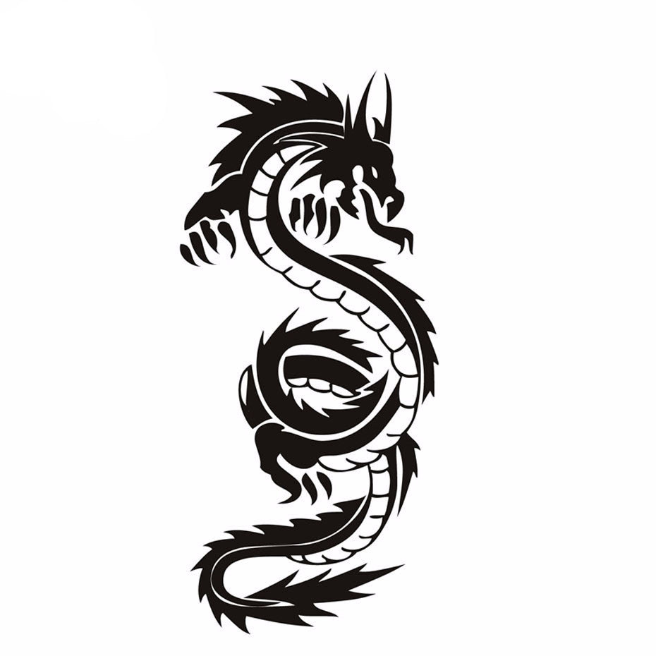 Gratuit - Stickers Dragon noir