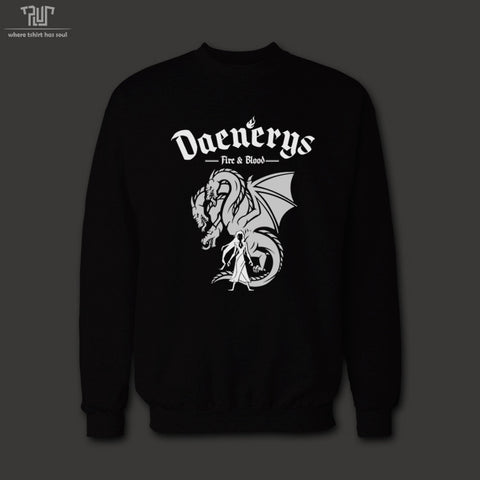 SWEATSHIRT - DAENERYS GAME OF THRONES UNISEX 82% COTTON