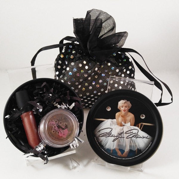 Marilyn Monroe Stash Tin with Bling bag (Mini Lip and Eyeshadow)
