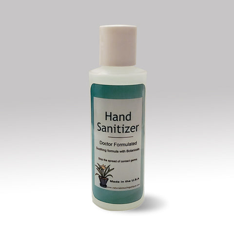 4oz Bottle of Hand Sanitizer with Aloe 70% Alcohol.