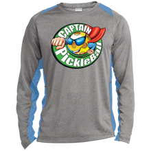 Load image into Gallery viewer, Long Sleeve Heather  T-shirt -Captain Pickleball
