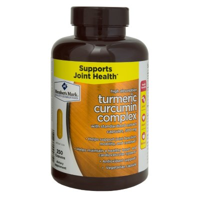 Member's Mark 500mg Turmeric Curcumin Complex Dietary Supplement (250 capsulas)