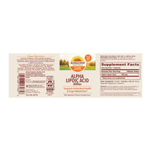Alpha Lipoic Acid - Sundown Naturals 600mg - 60 Capsulas