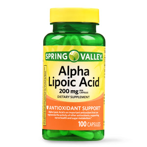Acido  Alpha Lipoic Spring valley 200mg - 100 capsulas