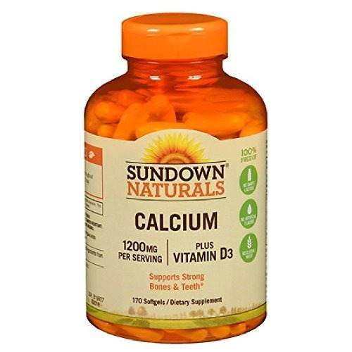 Calcio Sundown Naturals 1200mg  + Vitamina D3 - 170  Capsulas Blandas