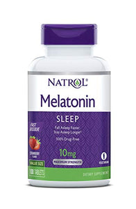 MELATONIN 10MG 100 TABLETAS - NATROL - FAST DISSOLVE
