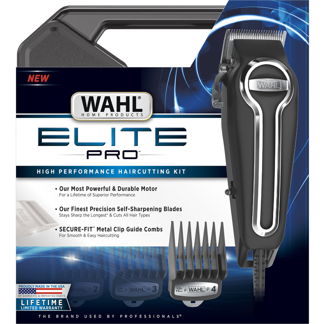 Wahl Clipper Elite Pro High Performance Home Haircut &  Grooming Kit For Men Electric Hair Clipper Model 79602
