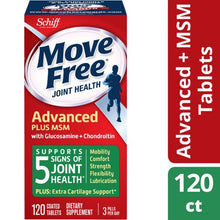 Move Free Advanced Plus MSM, 120 tablets - Joint Health Supplement with Glucosamina