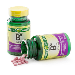 Vitamina B12 Spring Valley 1000mcg 150 tabletas