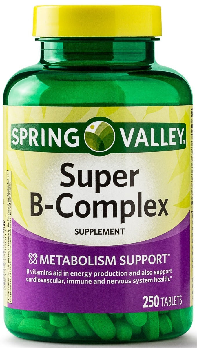Super Vitamin B complex - Spring Valley 250 tabletas