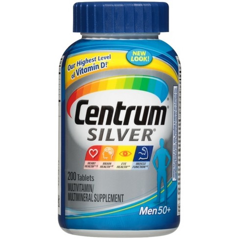 Centrum Silver For Men 50+, 200 tabletas - Multivitaminico