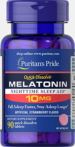 Melatonin Puritans Pride 10mg 90 tabletas  Quick Dissolve tablets