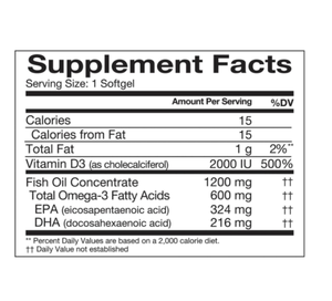 Member's Mark 1200mg Double Strength Wild Alaskan Fresh Fish Oil (200 ct.)