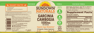 Garcinia Cambogia 1000mg 90 caps Sundown Naturals
