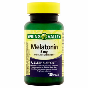 Melatonina de 5mg. Spring Valley - 120 Tabletas
