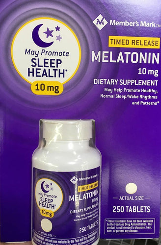 Melatonin 10mg 250 tabletas Member's Mark