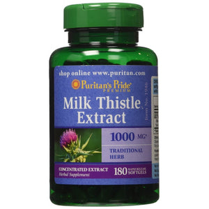 Milk Thistle  Extract - Puritans Pride - 1000mg -  180 Softgels