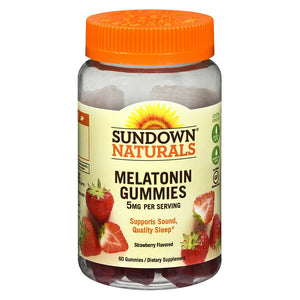 Melatonina en gomitas Sundown Naturals Melatonin Gummies 5mg, 60CT