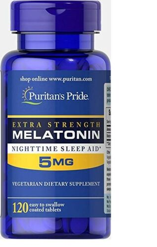 Melatonina 5mg . Puritans Pride 120 Tabletas