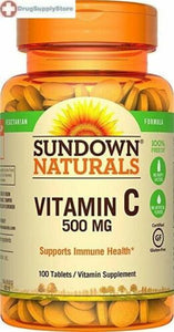 VITAMINA C  500 MG. SUNDOWN NATURALS - 100 TABLETAS
