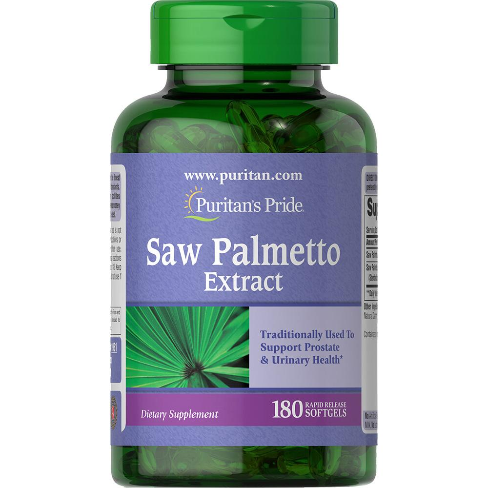 SAW PALMETTO EXTRACT 180 CAPSULAS - PURITAN'S PRIDE