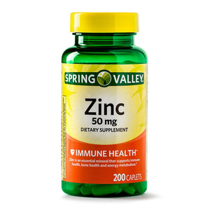 ZINC 50MG - SPRING VALLEY - 200 TABLETAS