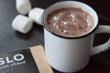 Mélange chocolat chaud noir. Dark hot chocolate blend.