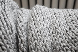 Couverture, gros tricot 40x45 pouces, végane - Chunky knit blanket , 40x45 in, vegan wool