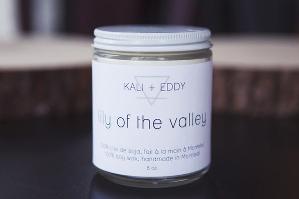 Lily of the valley, chandelle 100% cire de soja. Lily of the valley, 100% soy candle.