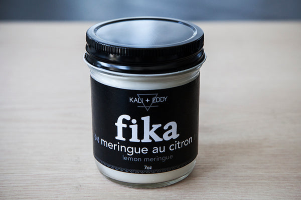 Fika Meringue Au Citron, chandelle 100% de soja.Lemon Meringue, FIKA collection, 100% soy candle.