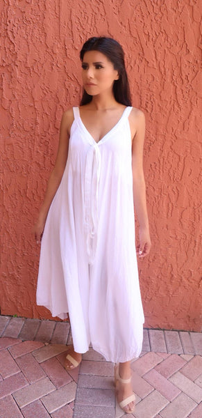 Boho Chic Cotton Romper - FASHIONEVOLVER